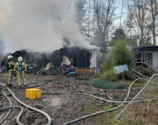 Chalet gaat in vlammen op, bewoner blijft ongedeerd