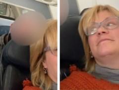 Vliegtuigpassagier ergert zich rot aan man die constant tegen haar stoel duwt, maar internet reageert verdeeld