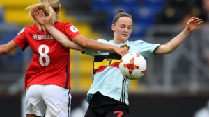 Elke Van Gorp, eerste Red Flame die scoorde op een groot toernooi, zwaait nationale ploeg uit
