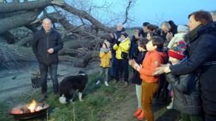 """Buren nemen afscheid van geliefde boom: """"Hopelijk krijgt hij een nieuw leven"""""""
