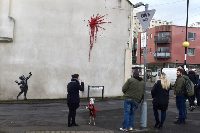 Banksy trakteert met nieuw werk voor Valentijn