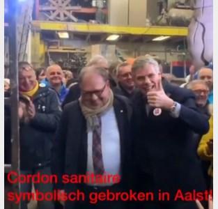 """""""Cordon sanitaire symbolisch gebroken in Aalst"""": opmerkelijk filmpje toont Filip Dewinter met N-VA-burgemeester van Aalst"""