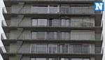 Glazen afsluiting dreigt naar beneden te komen in Gent door storm Dennis