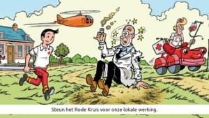 Suske en Wiske op nieuwe sticker Rode Kruis