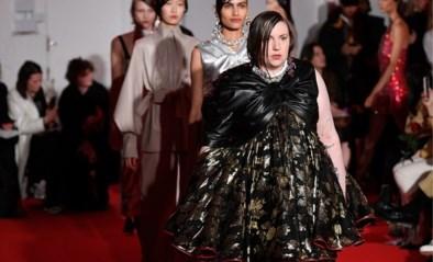 Lena Dunham maakt haar debuut op de catwalk tijdens modeweek