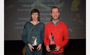 Foto. Nancy Van Eenoo sportvrouw en Bjorn Rondelez sportman van 2019