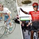 Quintana snoept het record op de Mont ventoux af van Pantani (toen nog mét haar)