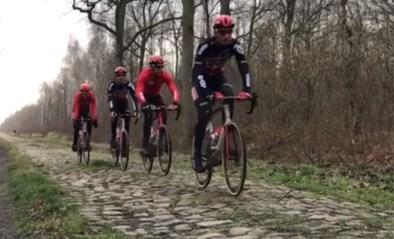 Titelverdediger Philippe Gilbert verkende kasseien van Parijs-Roubaix met zijn nieuwe fiets