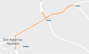 Omleiding in Hauthem pas vanaf 9 maart