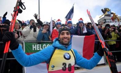 Martin Fourcade wereldkampioen biatlon op 20 kilometer en evenaart legende Bjørndalen