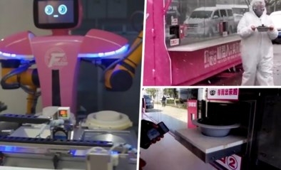 Hoe minder menselijk contact, hoe veiliger: dokters krijgen in China nu eten… van robots