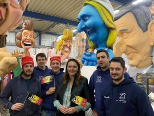 Aarschotse smurf op Aalsters carnaval