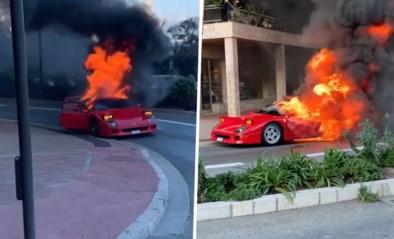 Zeldzame Ferrari van 1,1 miljoen euro gaat in vlammen op