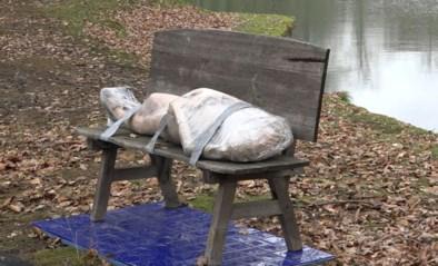 """Tonnen kritiek op luguber kunstwerk in park waar vaak kindjes komen spelen: """"Een neplijk is toch geen kunst?"""""""