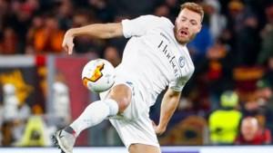 """AA Gent-spits Laurent Depoitre baalt na onnodige nederlaag op bezoek bij Dzeko en co: """"En toch maken we nog veel kans om door te stoten"""""""