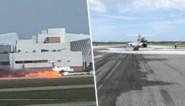 Vliegtuig gedwongen tot vurige buiklanding wanneer landingsgestel niet uitklapt