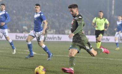 Napoli klopt staartploeg Brescia, (nog) geen clubrecord voor Dries Mertens