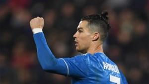 Juventus met moeite voorbij hekkensluiter: Cristiano Ronaldo scoort in 1.000ste wedstrijd als profvoetballer
