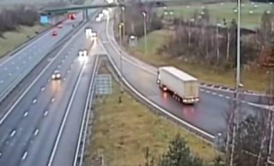 Dit levensgevaarlijke manoeuvre leverde een vrachtwagenchauffeur zes maanden cel op