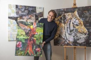 """Michel 'Mermic' Mertens (37) verovert wereld met collages uit verknipte magazines: """"Volgens Amerikanen is er echt een markt voor"""""""
