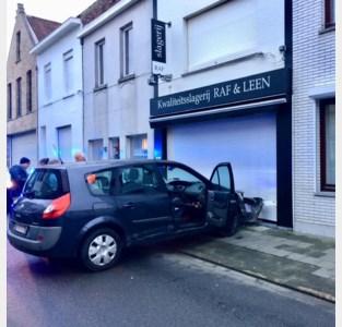 """Wagen knalt tegen toonbank van slagerij: """"Wat een geluk dat we al gesloten waren"""""""