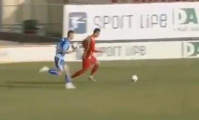 Kolder in Macedonië: verdediger kegelt bal weg… met een andere bal