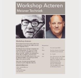 Workshop Acteren in Buurthuis met Kris Swinnen