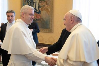 """Prior uit Grimbergen voor de vijfde keer bij Franciscus, """"maar een ontmoeting met de paus blijft uniek"""""""