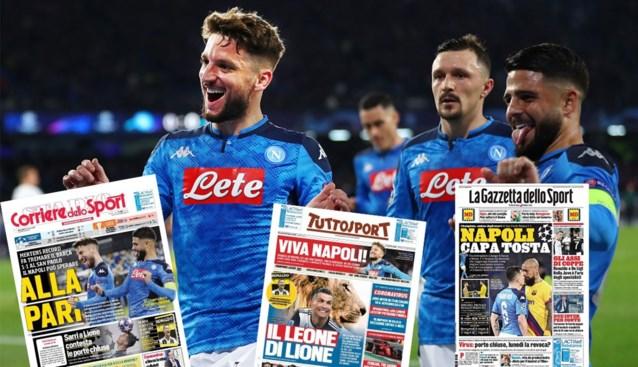 Dries Mertens siert de cover van Italiaanse kranten na historisch doelpunt tegen Barcelona