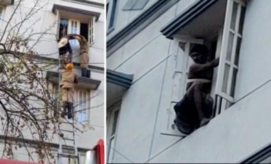 Dief komt vast te zitten tijdens inbraak: brandweer moet ingrijpen om man te redden