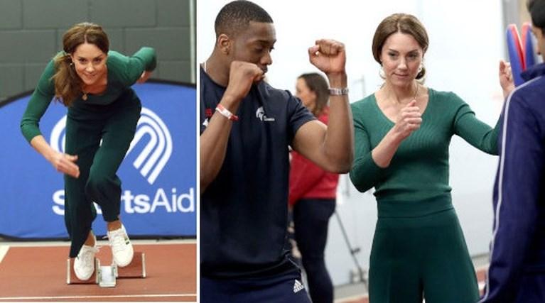 Kate Middleton ruilt hakken in voor betaalbare sneakers