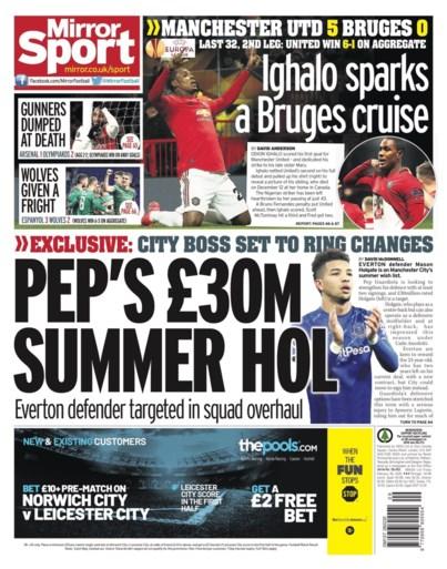 Engelse pers na Manchester United - Club Brugge genadeloos voor Deli, Mignolet krijgt complimenten