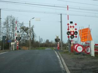 Spoorweg tijdelijk afgesloten in Nachtegaalstraat