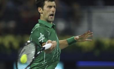 Novak Djokovic redt drie matchballen voor plaats in finale in ATP Dubai
