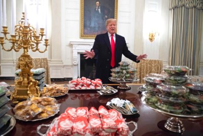 Hij wordt winderig van doperwten en groenten doen hem balen: alle topchefs ten spijt heeft Donald Trump amper iets gegeten in India