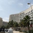 Het rennershotel in Abu Dhabi.