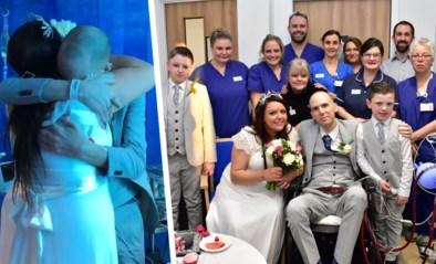Emotioneel moment: ernstig zieke man trouwt met liefde van zijn leven in ziekenhuis