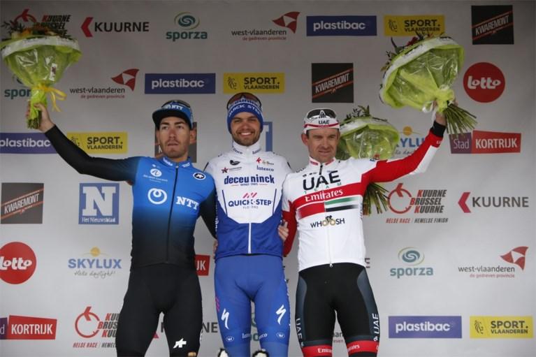 """REACTIES. Winnaar Kasper Asgreen zag af in Kuurne-Brussel-Kuurne: """"Ik had zo veel pijn aan mijn benen, maar gelukkig hield ik stand"""""""