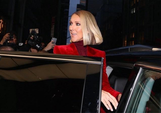 Céline Dion doet de hoofden draaien in wel heel lange jas