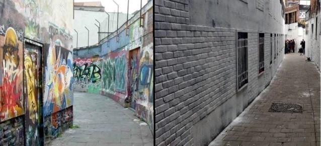 Plots witter dan wit: het graffitistraatje