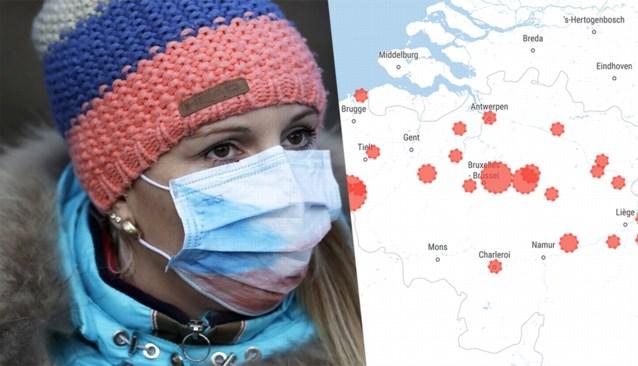 KAART. Op deze plaatsen zijn al besmettingen bekend in ons land