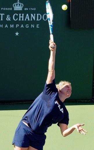 Kim Clijsters werkt zich in het zweet in Californië (en begint woensdag in Indian Wells)