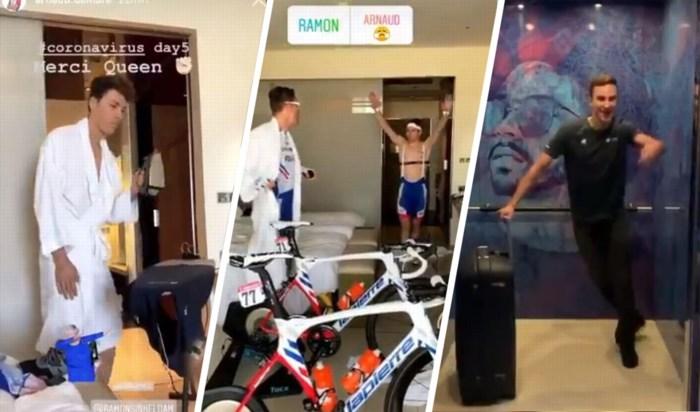 """Wielrenner en vlogger Ramon Sinkeldam is vrij na elf dagen quarantaine: """"Die coronatests sloegen nergens op"""""""