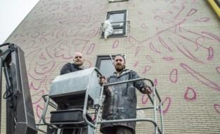 """Bewoners woon-zorgcentrum beslissen mee over metershoog graffitikunstwerk op gevel: """"Ze wilden per se een jonge vrouw op de gevel zien"""""""