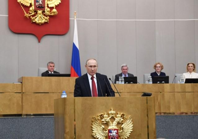 Poetin steunt wetsvoorstel dat hem president van Rusland laat blijven