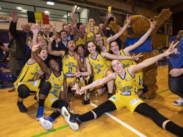 Eerste klasse vrouwenbasket definitief stopgezet: Castors Braine tot kampioen uitgeroepen