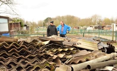 Tonnen asbest uit Merksemse tuintjes gehaald