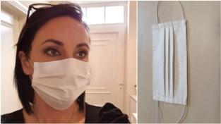 Kate (38) uit Boutersem stopt tijdelijk met haar dagtaak en stort zich fulltime op mondmaskers: