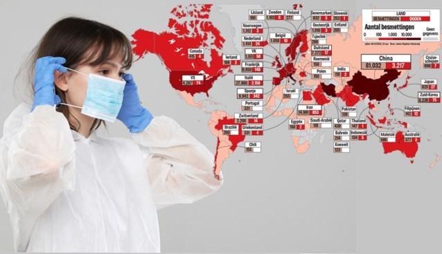 Kaart Besmettingen Doden En Maatregelen Geen Land Ter Wer