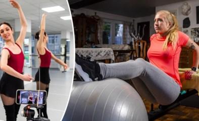 """Als de dansstudio en fitness dicht zijn door coronavirus, dan doen we het wel thuis: """"Meer dan kast of deurklink heb je soms niet nodig"""""""